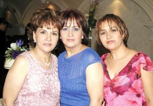 Dolores Suárez de Suárez, Enriqueta Suárez y Bertha Suárez.