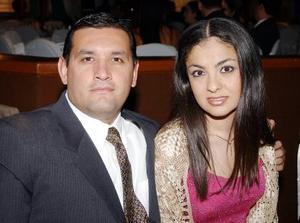 Ignacio Balcázar y Bárbara Mery en la recepción matrimonial de Carlos García y Ana Carolina Chew.