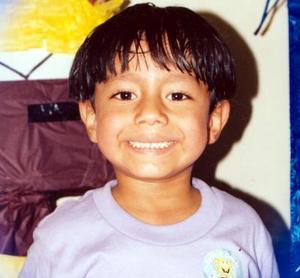 Kevin Rodríguez López cumplió cinco años de vida, es hijo de los señores Ramón Rodríguez Martínez y Guille de Rodríguez.