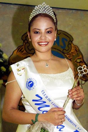Señorita Mayra Sandoval, reina del Club de Leones en Torreón.