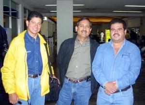 <u> 10 de septiembre </u> Francisco Barajas, Guillermo Pérez y Ricardo Anguiano llegaron a la Laguna procedentes de México pata tratar asuntos de trabajo.