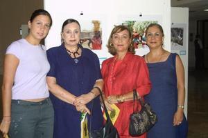 Valeria Campillo, María Guadalupe Villa del Río, Lucy de Valdés y Marisela Parra.