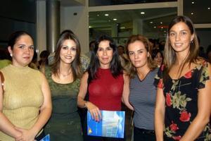 Lucía Garduño, Yanira Serban, Karla de Martínez, Irene Salum y Daniela Peters