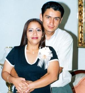 María Teresa Antúnez Romo y Edgar Florentino Meneses, unieron sus vidas el 13 de septiembre.