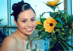 Cecilia Noé Céspedes en su primera despedida de soltera, ella se casará con Vidal Iruegas Maeda.