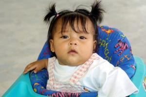 La pequeña Evelin Alejandra Aguilar Mendoza fue captada en un reciente festejo infantil.