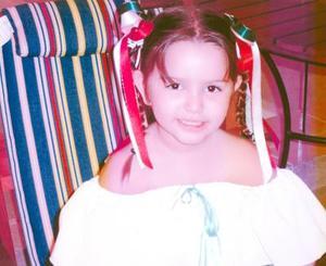 Niña Frida Marlem Ambriz Ponce, hija de los señores Armando Ambriz y Mónica Ponce de Ambriz.
