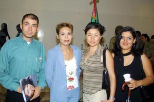 César Pérez Gómez, Sandra Seáñez, Lorena Fernández y Marisela Rubio.