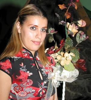 Mayela Castillo Tello en la despedida de soltera que le ofrecieron Blanca García y Lupita Mota el pasado 19 de septiembre.