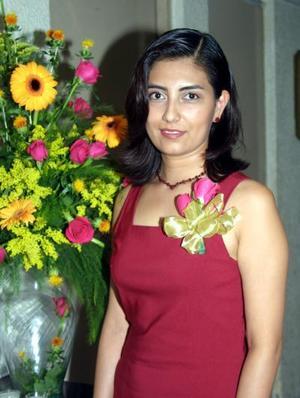 Silvia Azucena Ortiz Reynoso en su fiesta de despedida de soltera.