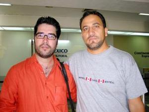Los doctores Raúl Domínguez y Óscar Hernández se trasladaron a la ciudad de Acapulco en plan de trabajo.