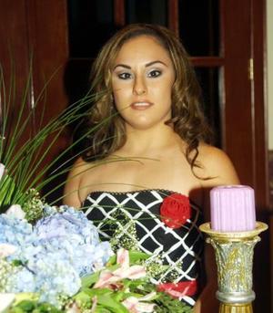 Brenda Esperanza González, en su primera despedida de sotlera