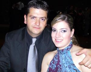 Alejandro Veyán Humphrey y Paola Boehringer Farías en la recepción matrimonial de Carlos Mijares y Alejandra Nahle.
