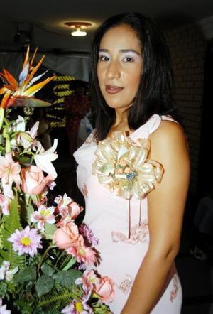 Juana María Lechuga Contreras en su primera despedida de soltera.