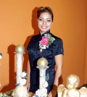 Diana Zapata Ortiz en su despedida de soltera organizada por su futura suegra Blanca Frausto de lesprón por su cercano enlace con Ernesto Lesprón Frausto.