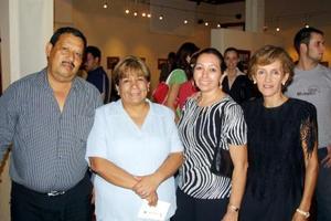 Carlos Maqueda, Lupita de la Garza, María de Jesús Lozano y Martha de Maqueda.