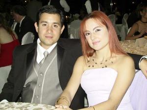 <u> 29 de septiembre </u> <p>   Jesús Pérez Mejía y Arleth Metlich en la recepción de boda de la pareja Balcázar-Mery.