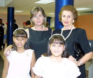 <u> 28 de septiembre </u> <p> Rosa Talamás de Murra, Margarita Lascuráin de Murra, Natalia y Lizeth Murra Núñez.