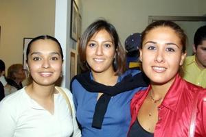 Marelene Pacheco, Rosalba Mijares y Carmina Fernández Ramírez.