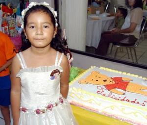 Argentina Hernández de la Vara en su fiesta de cumpleaños organizada por su mamá con motivo de sus seis años de vida.