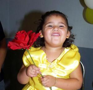 Karen Alondra Machain en su fiesta de tres años.