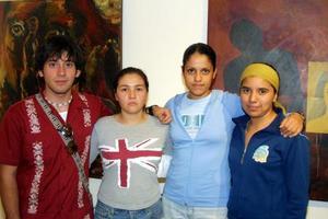 Alan Calderón, Alejandra Villasana, Karla Lam y Susana Nava.