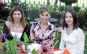 Daniela Villalobos, Laura Garza y Sofía Marein.