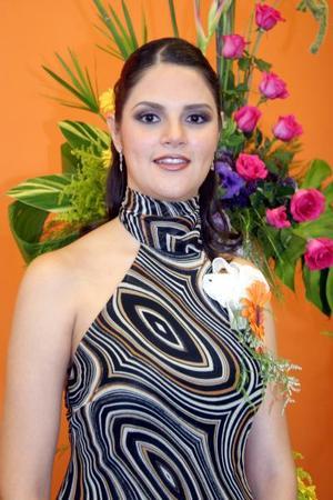 Srita Mayra Rentería Vargas en su primera despedida de soltera.