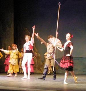 El libreto basado en la obra de Miguel de Cervantes Saavedra fue adaptado por Marius Petipa, con la música de Ludwing Minkus y la coreografía de Petipa y Alexander Gorsky.