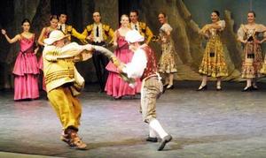 El Teatro Bolshoi transportó a un mundo de fantasías, las de don Quijote enamorado de Dulcinea, pasando de una posada a un pueblito de La Mancha; de un campamento gitano a un ensueño de Driadas (duendes de los árboles de forma femenina), para concluir en un castillo en el que se desarrolla la boda de Dulcinea, quien realmente se llama Kitri, con el barbero Basilio <p>  Ahí, una solemne procesión desfiló ante los ojos del público, que reconoció el buen espectáculo al aplaudir de pie al final de la obra.