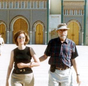 <u>11 octubre </u><p> Señores Martha Ávila de Dorado y Ángel Dorado Torres cuando visitaron el palacio real del Rey marroquí Mohamed VI en la ciudad de Fez.