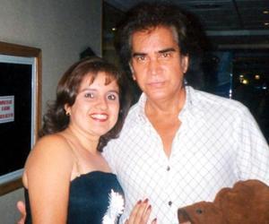 Blanca Muñoz de Castro acompañada por el cantante José Luis Rodríguez 'El Puma'.