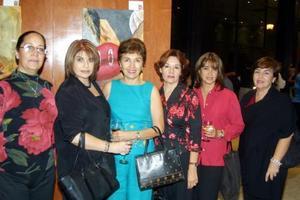 Soledad Gordillo, Ivonne Dávila, Lucy Calvillo, Mary Correa, Ale de Macuzet y Martha Nelly de Villarreal.