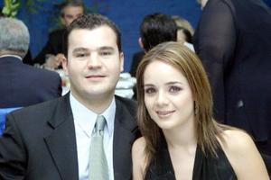 <u>14 octubre</u> <p>   Alfredo Leal y Marcela Pérez, en pasado convivio social