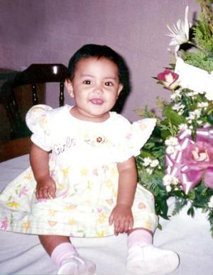 La pequeña Malenny Gutiérrez Martínez cumplió un año de vida.