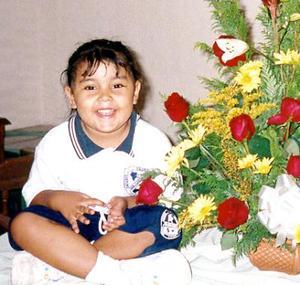 Melanny Gutiérrez Martínez cumplió cuatro años de edad.