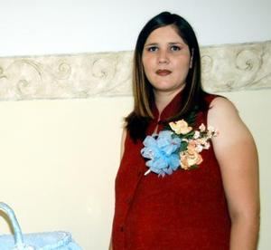 Alejandra Gómez de Hinojosa disfrutó recientemente de una fiesta de canastilla.