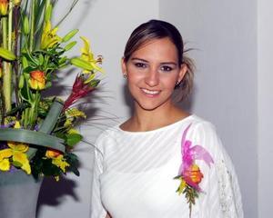 Carolina Gómez Flores, en una despedida de soltera que le ofrecieron con motivo de su próximo matrimonio.