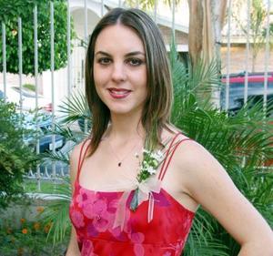 Sofía Garza G. en su despedida de soltera.
