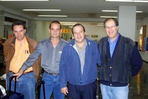 <u>14 octubre </u><p> Para supervisar obras de una inversión hotelera llegaron a México, Javier Boullosa, Ramiro Baqueiro, Avelino Ruíz y Enrique Rodríguez.