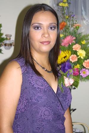 Gabriela Román Echeverría en la despedida d soltera que se le ofreció por su enlace matrimonial con Jesús Alejandro Rosas Alba el 13 de diciembre.