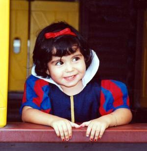 La pequeña Ana Luz Chávez Rocha en su fiesta de cumpleaños.
