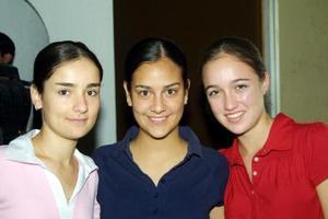 Caty Díaz, Daniela Macías y Bárbara Treviño.