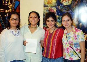 <u>19 octubre</u> <p> Thalía Orozco, Maribel Ortiz, Isabel Morales y Karla Eppen.