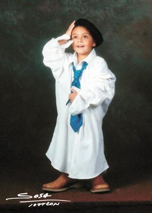 Jesús Eduardo Sánchez Hernández en una fotografía de estudio con motivo de sus tres años de vida.
