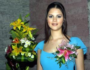 Mayra L.Rentería en la despedida de soltera que se le ofreció con motivo de su próximo matrimonio con Agustín Prieto Huerta.