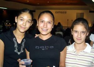 Nury Ramos,  Ale Sánchez y Ariadne Sandoval