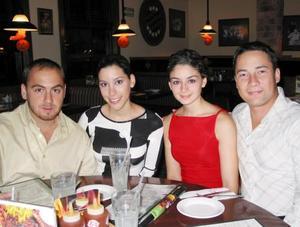 Elías Bitar, Laura Garza, Diana Daher y Akio Kishi