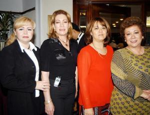 Lupita Anaya, Marpia Márquez, Adriana Cuan y Norma Caropressi.