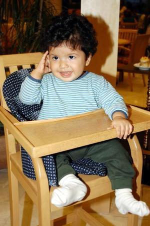 El pequeño Gabriel Eduardo Soto Montoya en pasado festejo social
